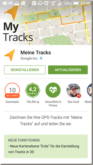 Meine Tracks 2.0.10 - Playstore