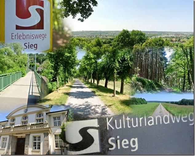 Kulturlandweg Sieg - Collage
