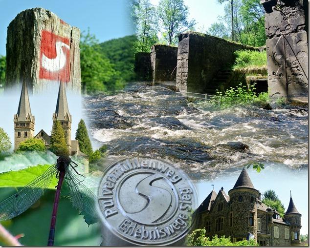 Pulvermühlenweg Sieg - Collage