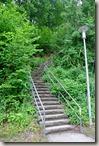 Erlebnisweg Burgweg - Treppe am Startpunkt