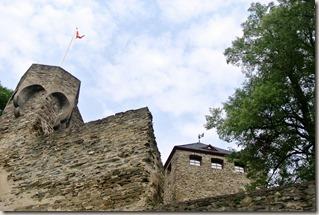 Traumpfad Saynsteig - Blick die Burgmauer hinauf