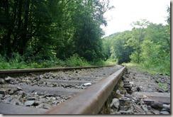 Traumpfad Saynsteig - Eisenbahnschiene