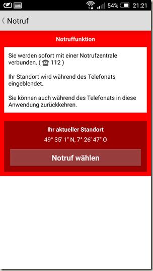 Gastlandschaften App - Notruf