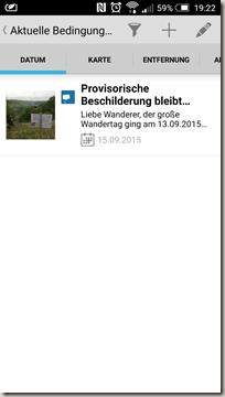 Gastlandschaften App - Aktuelle Bedingung