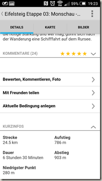 Gastlandschaften App - Tourenbeschreibung