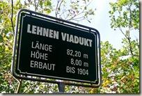Traumpfad Nette-Schieferpfad - Schild am Viadukt