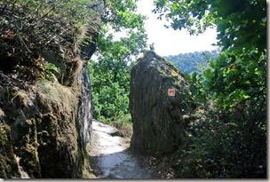 Traumpfad Nette-Schieferpfad - Engstelle im Fels
