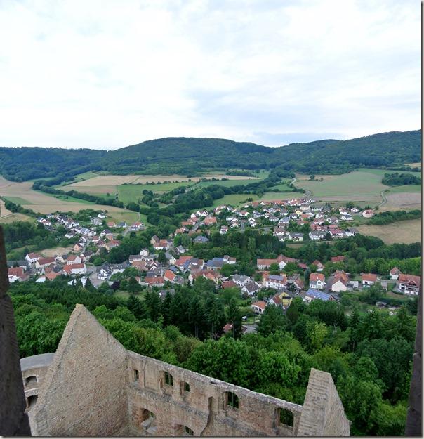 Veldenz Wanderweg Etappe 1 - Blick vom Burgfried 3