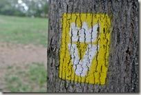 Veldenz Wanderweg Etappe 1 - Zuwegung Logo gelb
