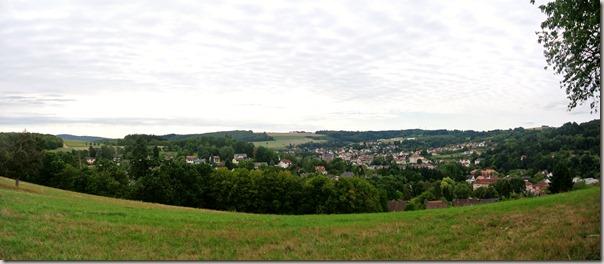 Veldenz Wanderweg Etappe 1 - Blick auf Kusel