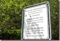 Veldenz Wanderweg Etappe 1 - Warnung Übungsplatz
