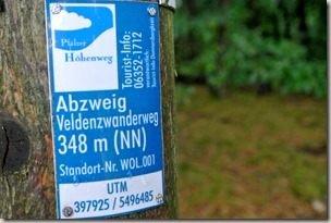 Veldenz Wanderweg Nerzweiler-Ausbacherhof - Pfälzer Höhenweg