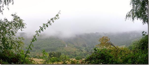 Veldenz Wanderweg Nerzweiler-Ausbacherhof - Nebel im Tal