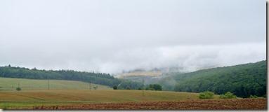 Veldenz Wanderweg Nerzweiler-Ausbacherhof - nochmal Nebel im Tal