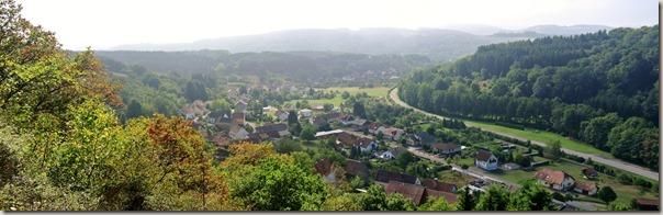 Veldenz Wanderweg - Blick auf Niederalben