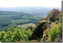 Veldenz Wanderweg - Blick vom Mittagsfels ins Tal
