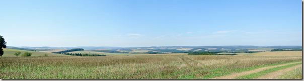 Veldenz Wanderweg Ausbacherhof-Lauterecken: Blick über das Pfälzer Bergland