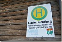 Rhön Kreuzbergtour 2016 - Höchste Haltestelle Frankens