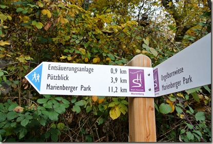 Traumschleife Marienberg - Wegweiser