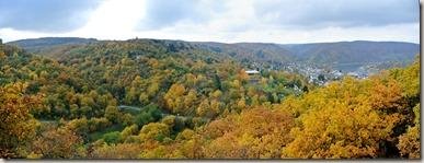 Traumschleife Marienberg - Blick auf das Tal