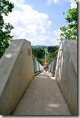 Geierlay - Blick auf den Brückeneingang