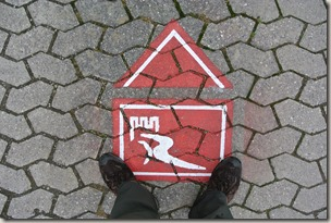 Schwede-Bure-Tour - Bodenmarkierung