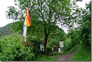 Calmont Klettersteig - Startpunkt der Wanderung