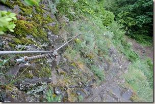 Calmont Klettersteig - Stahlseil