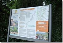 Moselsteig Etappe 1 - Karte am Einstieg in die Tour