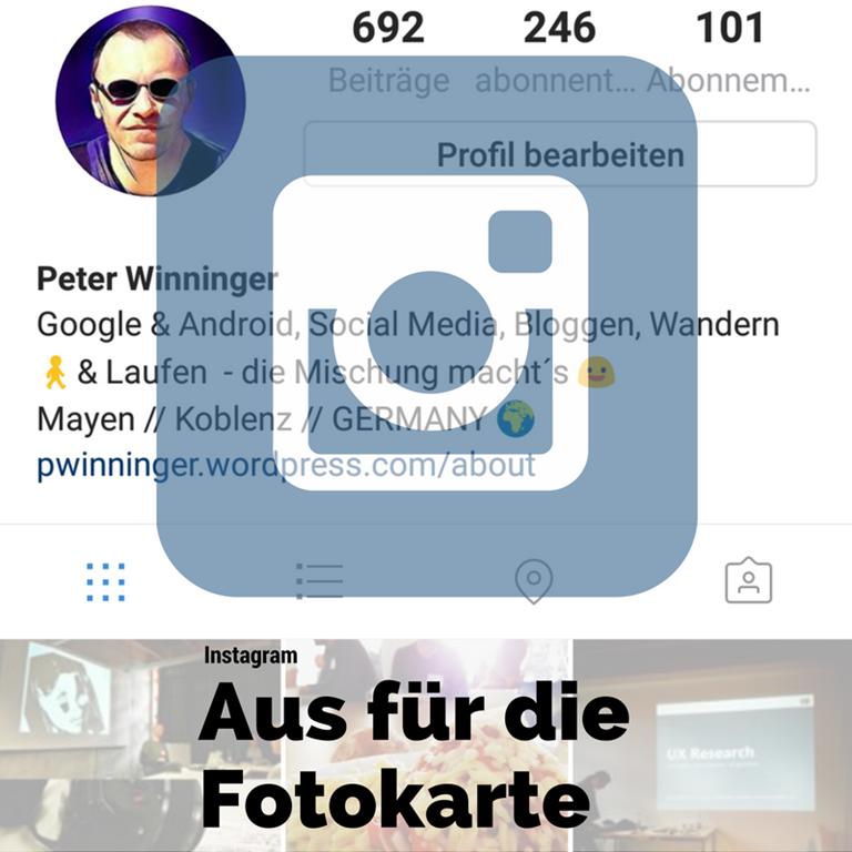 Instagram Fotokarte