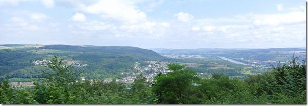Moselsteig–Etappe 3: Nittel–Konz - Blick auf Konz und das Moseltal