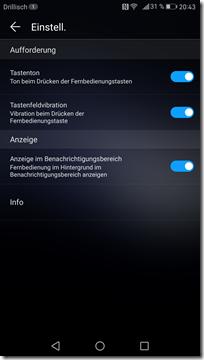 Huawei Mate 9: Smart Controller - Konfiguration