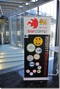 BarCamp Bonn 2017 - BarCamp Aufsteller