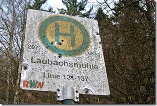 Fürstenweg -  Haltestelle Laubachsmühle