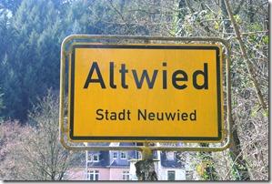 Fürstenweg -  Altwied Ortsschild