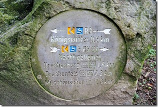 Rheinsteig (Königswinter - Bad Honnef) - Kilometerstein