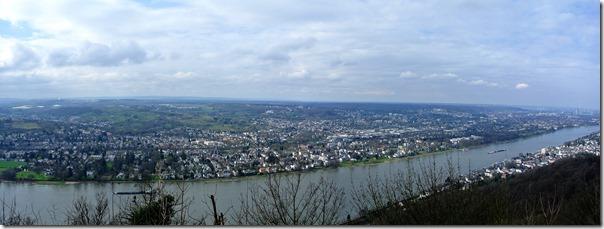 Rheinsteig (Königswinter - Bad Honnef) - Blick zur anderen Rheinseite