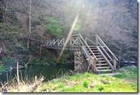 Grafschaft Pfad Manderscheid - Brücke über die Lieser