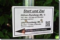 Höhenweg Laacher See - Hinweisschild