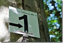 Höhenweg Laacher See - Kennzeichnung ML1