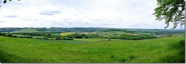Höhenweg Laacher See - Blick über die Felder