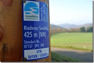 Traumpfädchen Riedener Seeblick - Höhenmarke