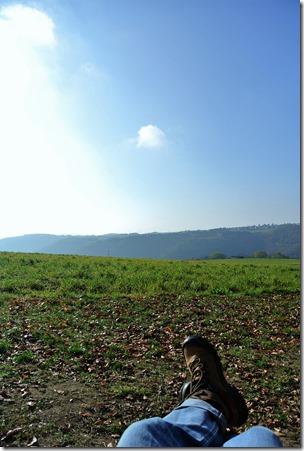 Traumpfädchen Riedener Seeblick - Rast mit Blick in die Eifel