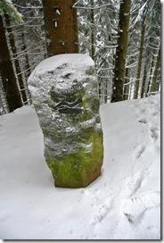 Rothaarsteig Spur Oberhundemer Bergtour -Wegemarke Rothaarsteig