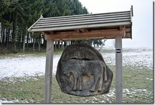 Rothaarsteig Spur Wisent-Pfad - Holzschild