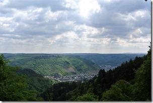 Seitensprungs Cochemer Ritterrunde - Blick zurück auf Cochem