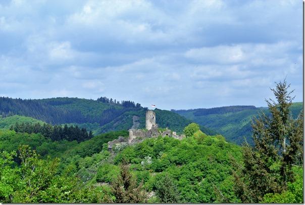 Seitensprungs Cochemer Ritterrunde - Blick auf die Winneburg