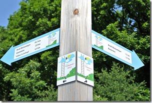 Himmelsleiter Brohl-Lützing - Streckenmarkierung