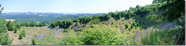 Traumpfad Hochbermeler - Blick in den Steinbruch