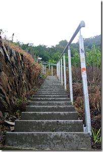 Traumpfad Hatzenporter Laysteig - Treppe an der Wetterstation